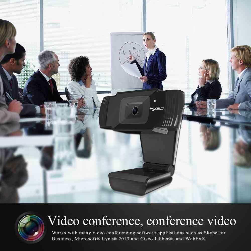 HXSJ S70 HD كاميرا ويب ضبط تلقائي للصورة كاميرا ويب 5 ميجابيكسل دعم 1080P مكالمة فيديو الكمبيوتر الطرفية كاميرا HD كاميرا ويب سطح المكتب