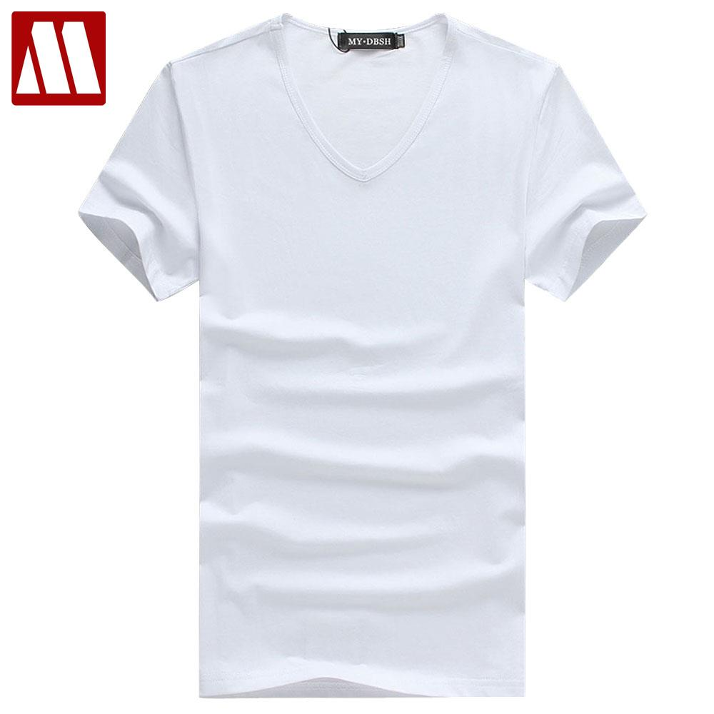 Mydbsh 2018 New Fashion Brand Men Clothes Solid Color Short Sleeve