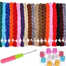 AliLeader 82-дюймовые синтетические плетения для волос в виде вязания крючком 165G Jumbo Braid