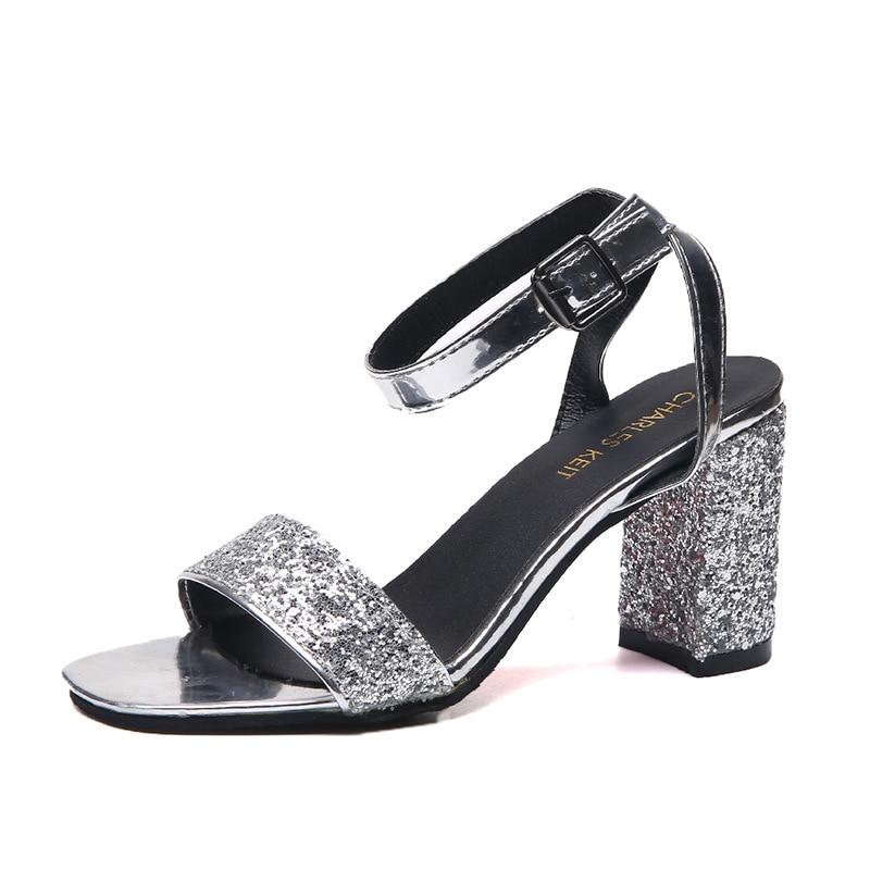 Superficial Zapatos 2018 Con Fondo Black Sandalias Hebilla Mujer gzfxPI