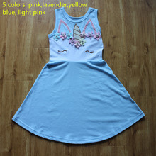 Girls Summer Unicorn Dress Princess Cosply Birthday Dresses Costume for Kids Clothing Children Party Dresses girls summer dresses 2018 animals appliqued girls dress unicorn printed kids dresses for girls clothing princess costume child