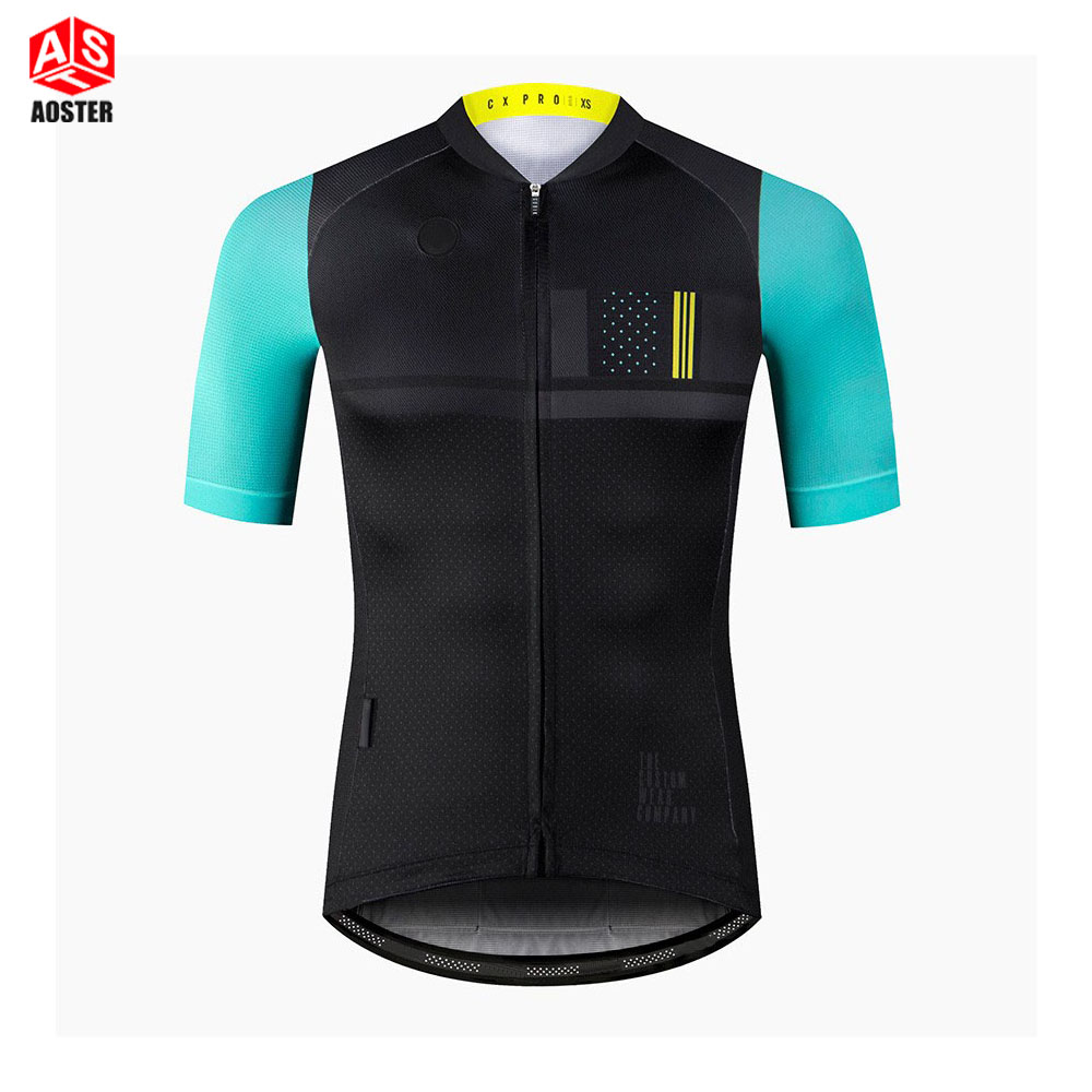 AOSTER Brand 2018 Quick Dry Breathable Cycling Jersey Short Sleeve Summer Men's Shirt Bicycle Wear Racing Tops Cycling Clothing quick dry breathable cycling bike jersey short sleeve summer spring women shirt bicycle wear racing tops pants sports clothing