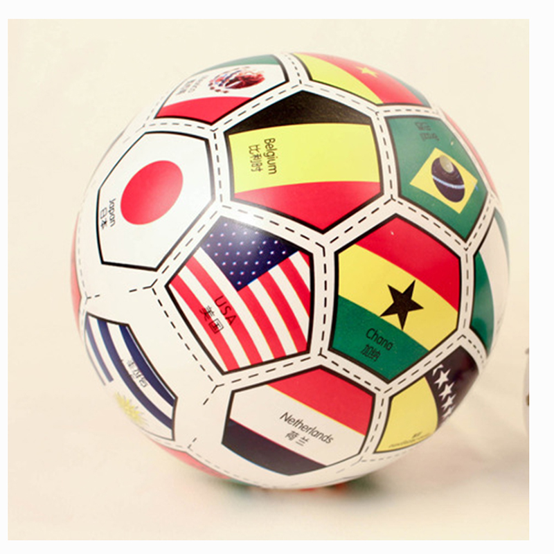 23CM Bouncing national flag Ball font b toys b font Inflatable Jumping Bounce stress Sport font