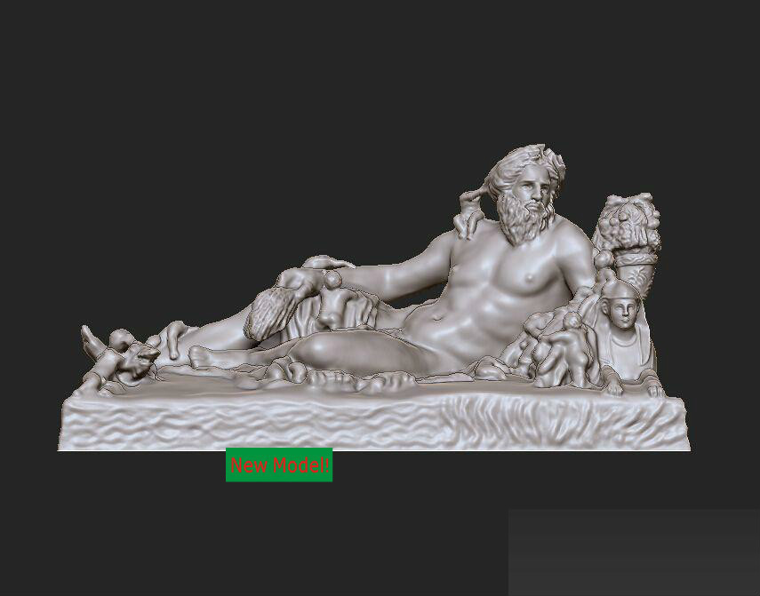 3D model stl format, 3D solid model rotation sculpture for cnc machine The father of the Nile martyrs faith hope and love and their mother sophia 3d model relief figure stl format religion for cnc in stl file format