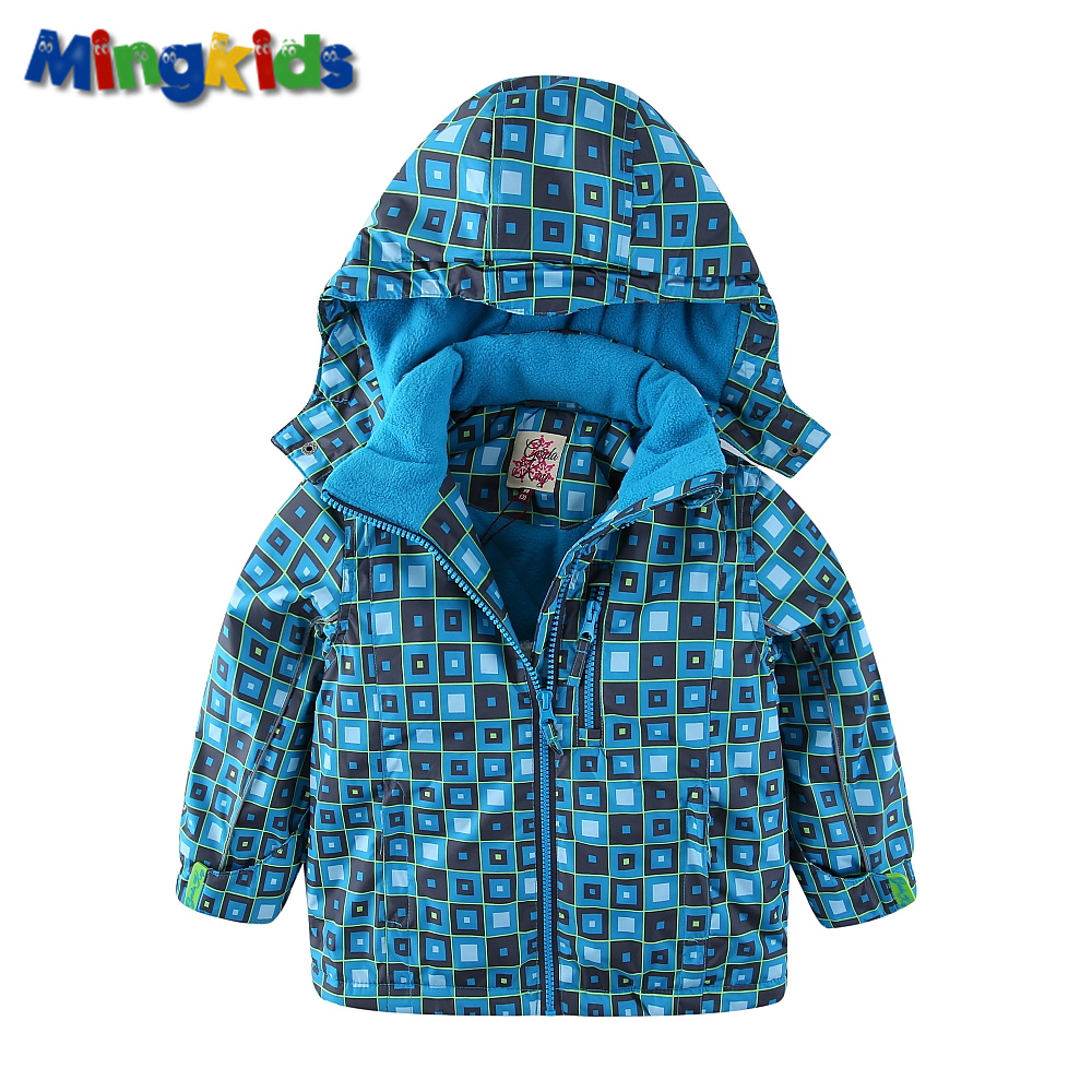 Mingkids Snowsuit Boy Ski set Outdoor Winter spring autumn Warm Snow Suit waterproof windproof padded European Size plaid in Clothing Sets from Mother Kids