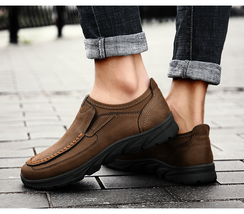HTB13k33aaSs3KVjSZPiq6AsiVXac Men Casual Shoes Loafers Sneakers 2019 New Fashion Handmade Retro Leisure Loafers Shoes Zapatos Casuales Hombres Men Shoes