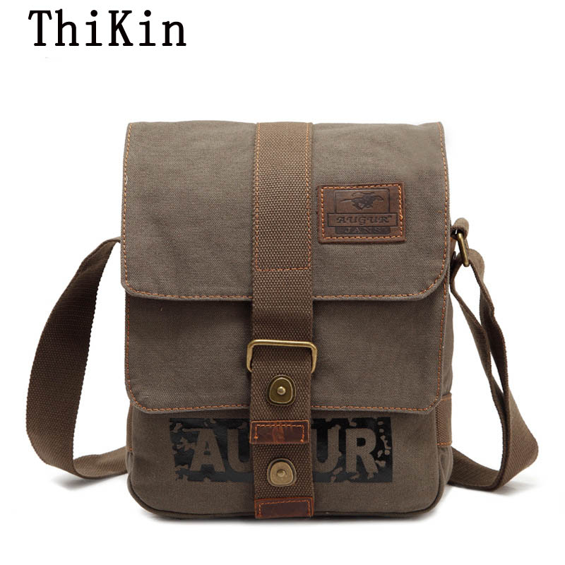 Augur Stylish Crossbody Bag Multifunctional Men Canvas Single Strap Bag All-match Satchel Shoulder Bag Women Messenger Bag