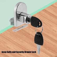 купить Furniture Hardware Drawer Lock Door Cabinet Lock Zinc Alloy Single Door Drawer Lock keep Safty and Security with Keys дешево