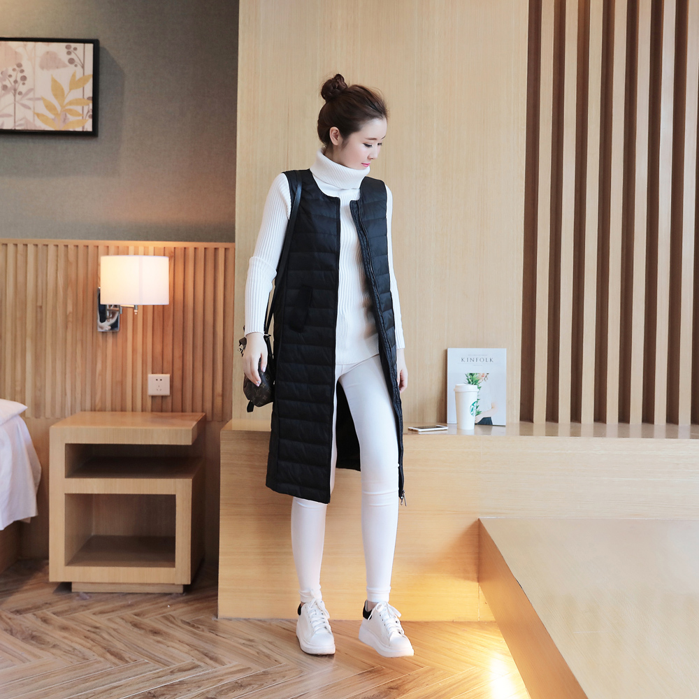 Hoodies & Sweatshirts The Best Hot!winter Women 90cm White Duck Down Vest Womens Ultra Light Duck Down Vest Jacket Autumn Winter Sleeveless Coat Size S-xl