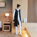 White Duck Down Vest Women's Winter Coat Ultra Light Women Long Sleeveless Parka