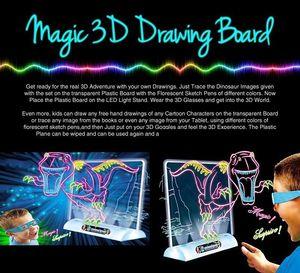 Головоломка Волшебная 3D доска для рисования игрушка красочная ручка для рисования планшет необычная трехмерная детская портативная доска ...