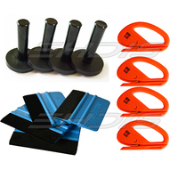 EDHIS 12 IN 1 Auto Car Vinyl Film Wrapping Tools Kit Magnet Holder +3M Felt Squeegee+Safety Snitty Cutter Window Tint Tool AT008