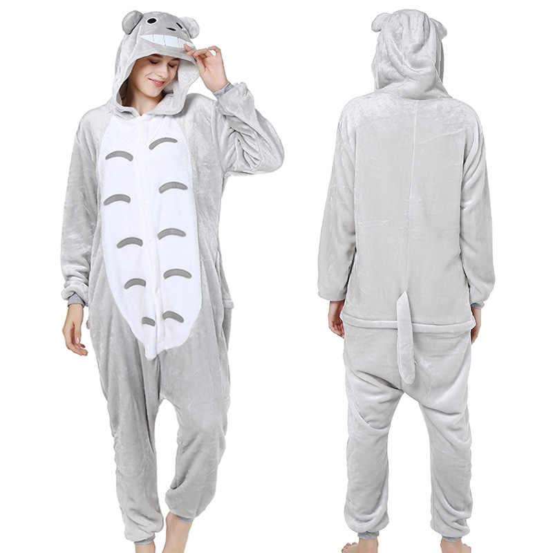 Kigurumi رمادي Totoro منامة الحيوان حزب تأثيري زي الفانيلا نيسيس لعبة الكرتون الحيوان ملابس خاصة