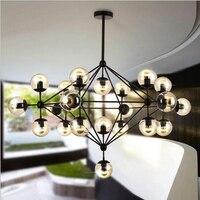 Американский подвесные светильники промышленные стеклянный абажур hanglampen Лофт свет винтажные Стиль светильники Кухня подвесной светильни