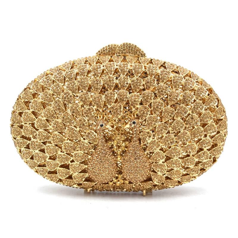 Et gold Bandoulière Pochette pink Femmes Soirée Colorful Xiyuan Main En Luxe Femelle À De Cristal Sac blue Or Creux silver Embrayages Dîner Strass TYqHfw