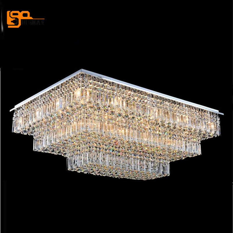 Us 915 81 11 Off New Luxury Design Large Modern Chandeliers Crystal Lighting Ceiling Fixtures For Hotel Lobby Chandelier With Remote Control In