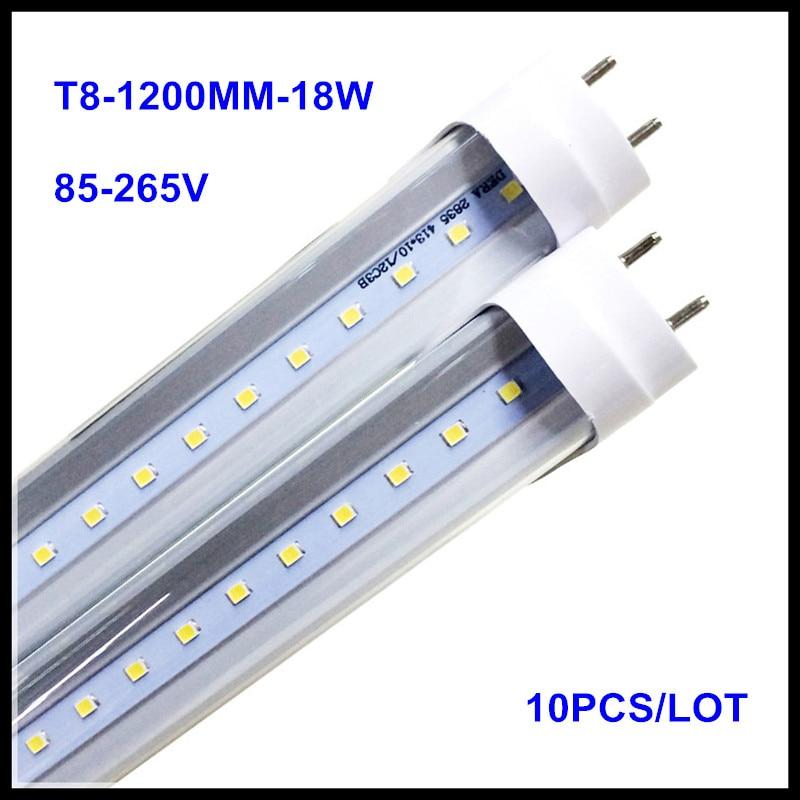 4FT LED Tube Light 1200MM T8 18W 22W AC85V-265V LED Lamp 4 Foot 1.2M LED Tubes Light 2835SMD Lighting LED Fluorescent Tube t8 led tube 1200mm light 18w120cm 4ft 1 2m g13 with holder fixture high power smd2835 fluorescent replacement 85 265v