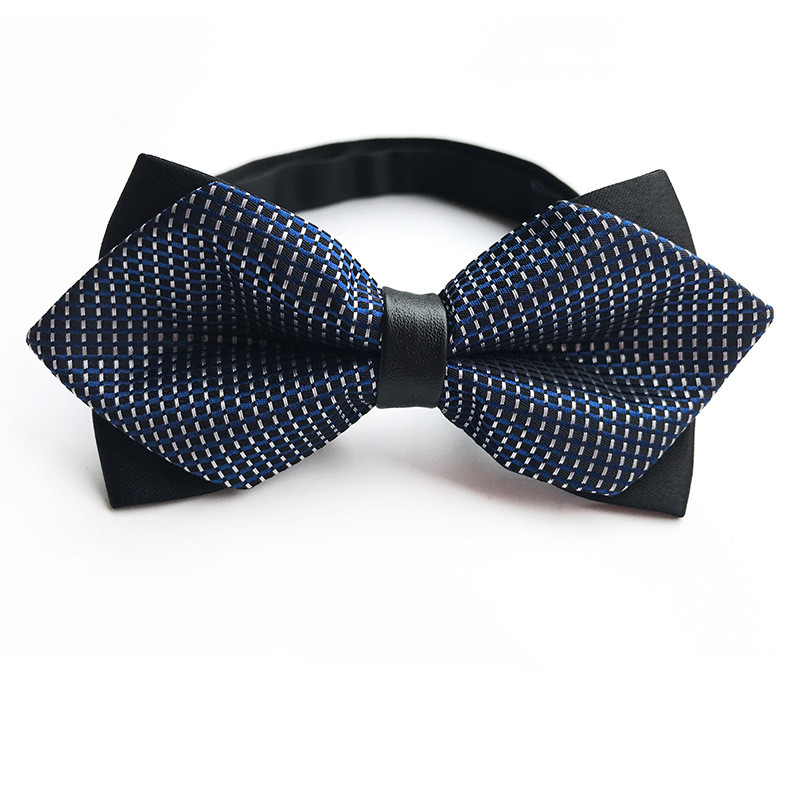 Men's Bowtie Tuxedo Ties Royal Blue White Black Fashion Formal Silk Bow Tie Classical Dot Bowties Plaid Butterfly Wedding Party