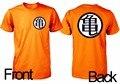 Verano orange imprimir mens dragonball z goku camiseta manga Comic Kult Diversión Trickfilm O de Algodón de Cuello Camiseta Tops Japón Anime Tee
