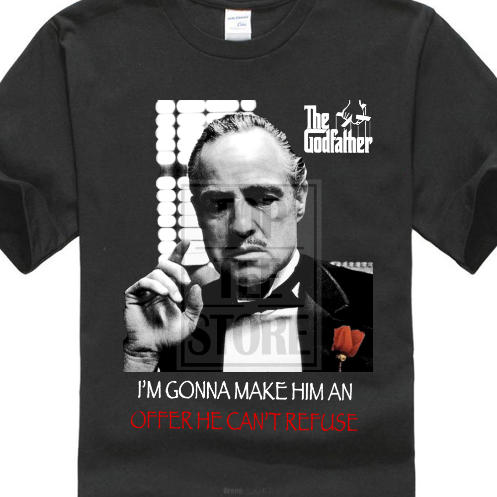2017 Creative The Godfather The Refuse Mantén a tus amigos cerca de la camiseta Mafia Camiseta de manga corta de los hombres Populares Tops