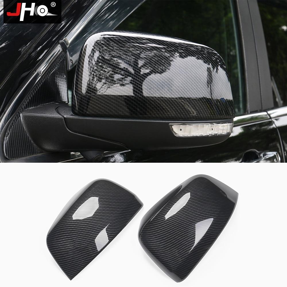 JHO углеродное зерно автомобильные аксессуары Боковая дверь зеркало заднего вида Накладка для 2011 2019 Jeep Grand Cherokee 2018 2017 2016 15 14 WK2