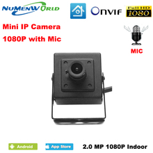 Mini IP camera 1080P 2.0MP with 2.8mm wide lens HD network camera built in microphone CCTV Security Video camera for Indoor use
