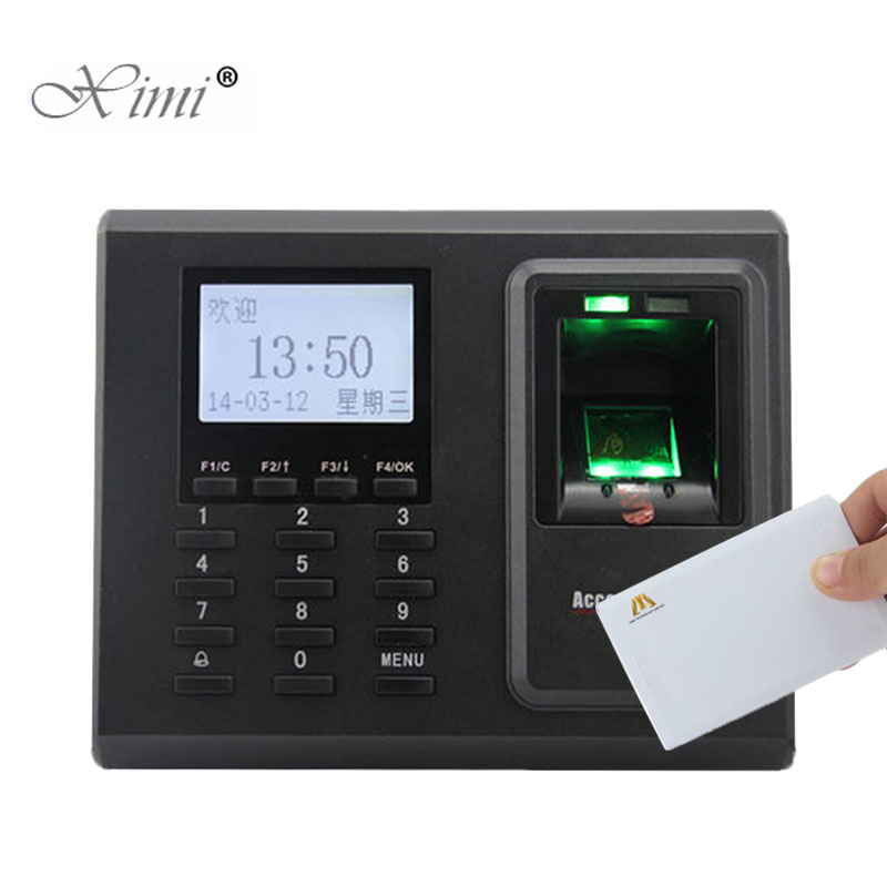 Black And White Standalone Biomtric Fingerprint And MF Card Access Control System ZK F2 Fingerprint Time Attendance Time Clcok