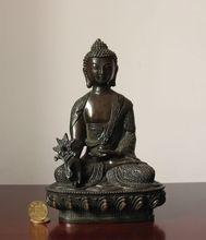 8 Old Tibet Tibetan Buddhist Medicine buddha bronze statue