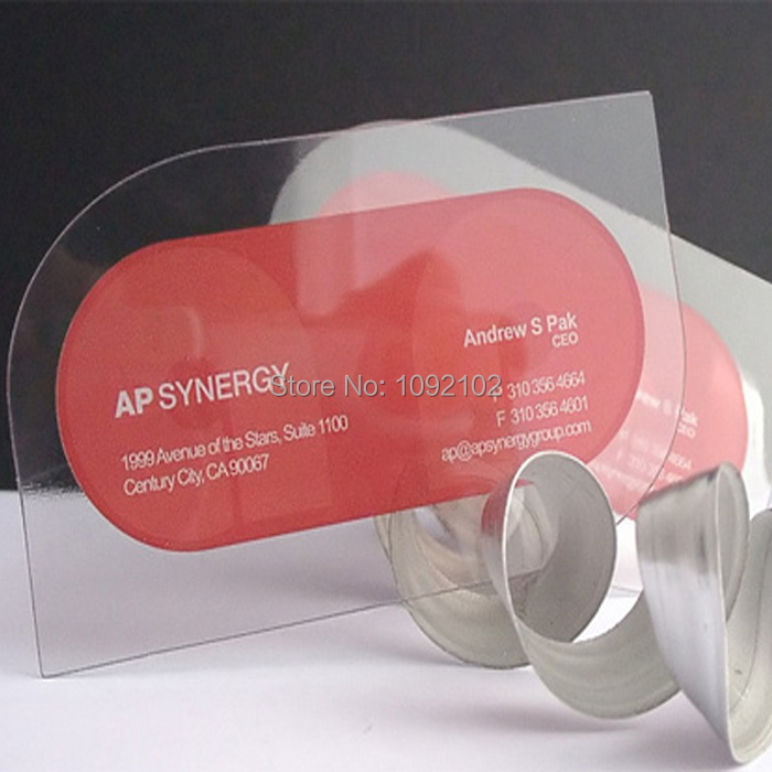Generous Transparent Business Cards Printing Photos - Business Card ...
