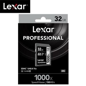 Image 5 - 100% oryginalna karta Lexar SD 1000x UHS II U3 SDHC karta pamięci 32GB karta SD do 150 MB/s Class10 cartao de memoria