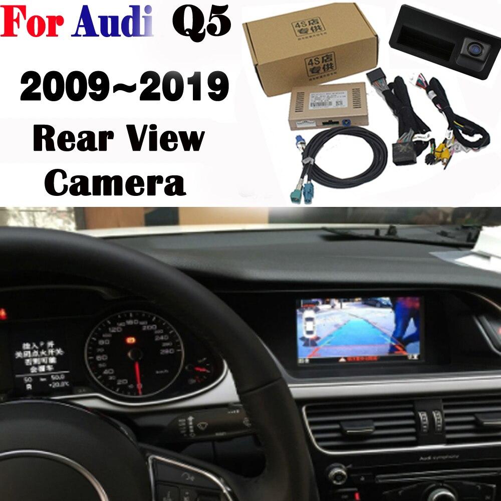 Câmera frontal Para Audi Q5 2009 ~ 2019 Adaptador de Interface de Estacionamento Câmera de visão Traseira DVR Tela Original MMI Decodificador