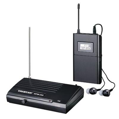 2sets Lot Takstar wpm 200 wpm 200 Wireless Monitor System In Ear Stereo UHF Wireless Headset
