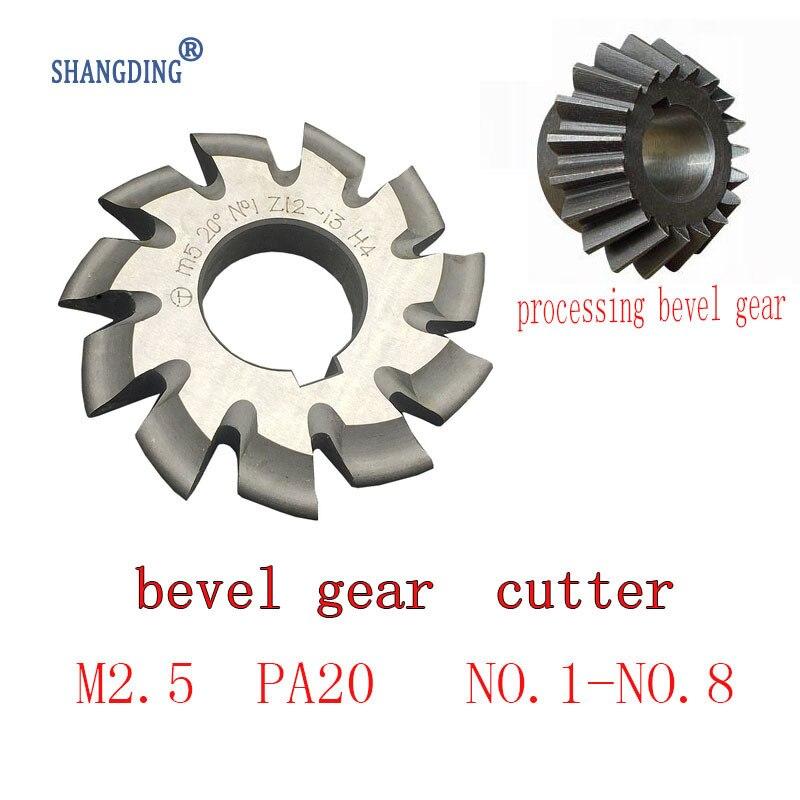 M2.5 Modulus PA20 NO.1-NO.8  65mm*22mm inner hole 8pcs HSS Bevel Gear Milling cutter processing Bevel Gear Free shipping yamato minamoto no eritomo 8 5x19 5x120 et45 d74 1 x ray 22