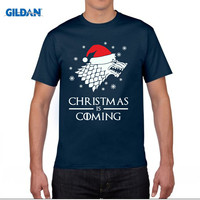 GILDAN Christmas Is Coming T Shirt Winter Jon Snow Game Of Thrones Christmas Top Gift Short