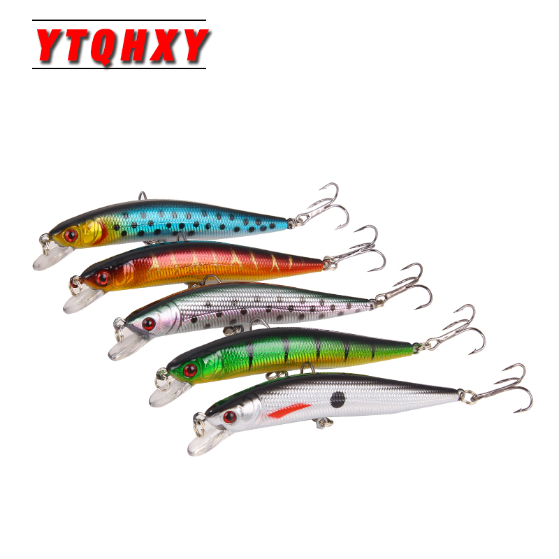5pcs/lot Fishing Lure Set 10cm 6# Hooks Pesca Lifelike Minnow Lures Wobbler Isca Artificial Hard Bait Fishing Tackle WQ42DB