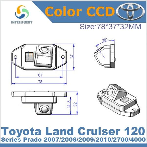 Free shipping Car rear view camera For Toyota Land Cruiser 120 Series Prado 2007 2008 2009 2010 2700 4000 HD CCD night vision