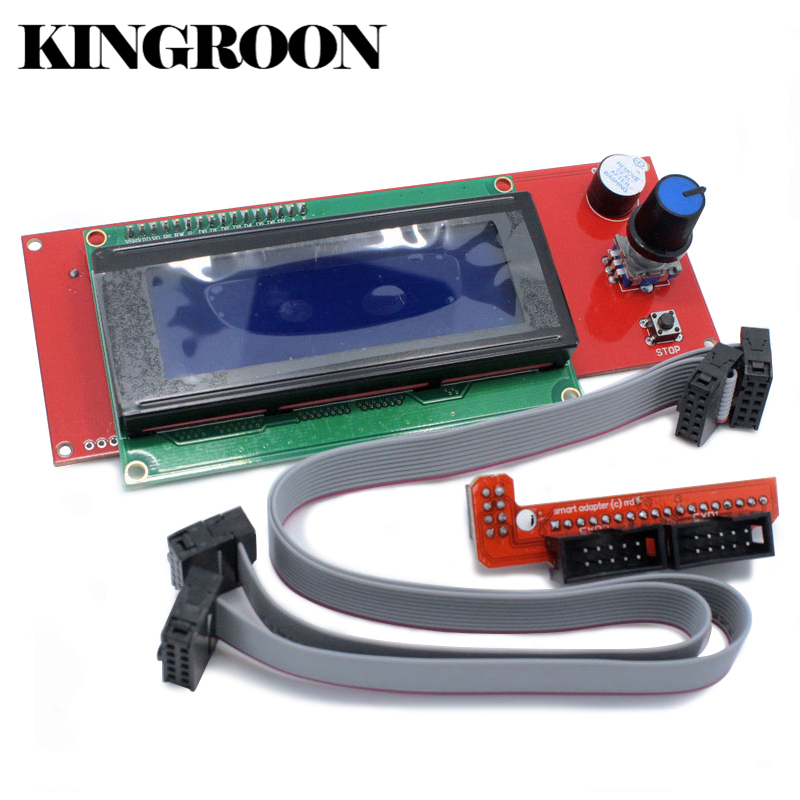Ramps 1.4 2004 LCD Control with Smart Adapter Controller Board 3D Printers Parts Cable Accessories Ramps1.4 Motherboard Part