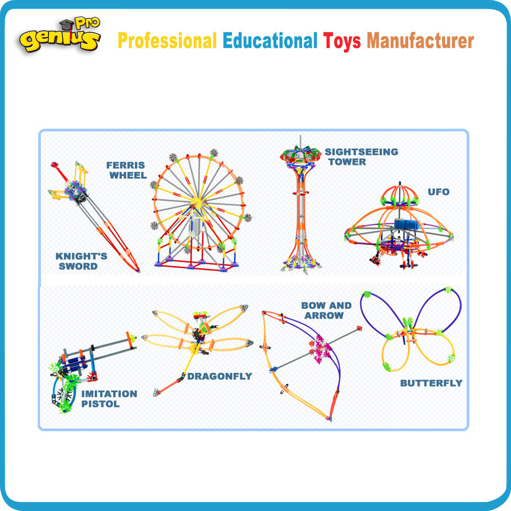 Genius 420pcs Electronic Playground Kids Toys Education Building Butterfly Diagram For Blocks Inserting Children Compatible With Knex G 9008b In From