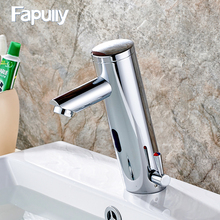JSD8902 Hot Cold Mixer Automatic Hand Touch Tap Hot Cold Mixer Battery Power Free Sensor Faucet Bathroom Sink automatic hand touch tap cold wate free sensor faucet bathroom sink