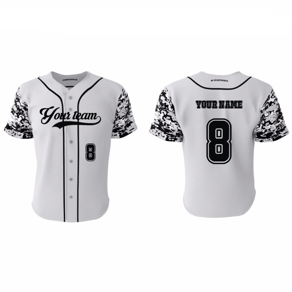 Kawasaki Brand Original Custom Grey Camo Baseball Jerseys Top 100 Kaos Pria Lengan Pendek Cabanna Black Floral Shirt 65 66 67 68 69