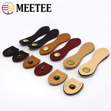 Meetee 5/10pcs 9*2.5cm Genuine Leather Buckle Snap Buttons DIY Patchwork Bag Purse Sewing Fasteners Accessories CN013