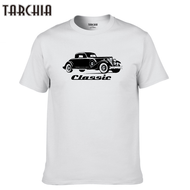 TARCHIA 2019 Homme sleeve Top Spring Print Men fshion Tees vintage classic Tops Casual T Shirt Men new Cotton Slim Fit T shirt