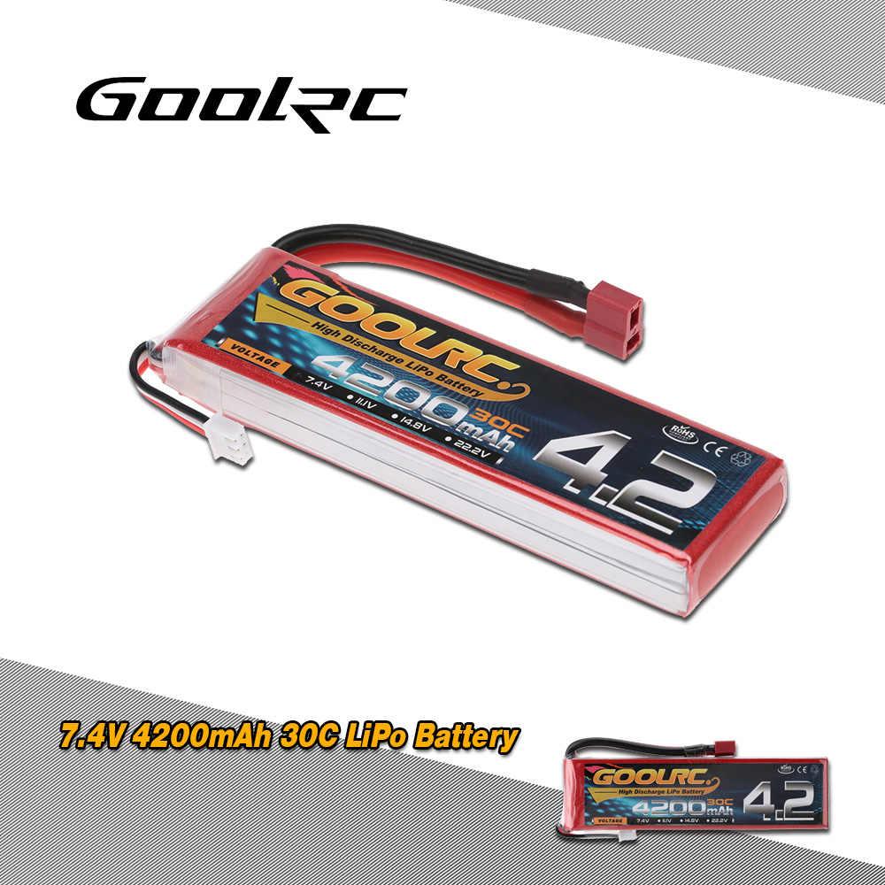 Оригинал goolrc 4200 mAh 30C LiPo батарея 7,4 V 2 S с Т-штепсельной вилкой для RC автомобиль Лодка Грузовик