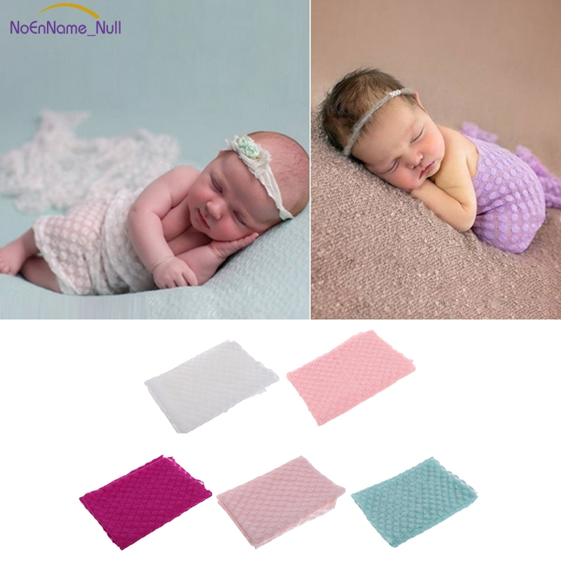 2018 Fashion Newborn Baby Stretch Lace Cheesecloth Wrap Swaddle Photography Prop Backdrop New APR16