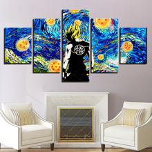 5pcs DIY Diamond Painting Dragon Ball Goku Full Square Embroidery Mosaic Picture Of Rhinestone H317
