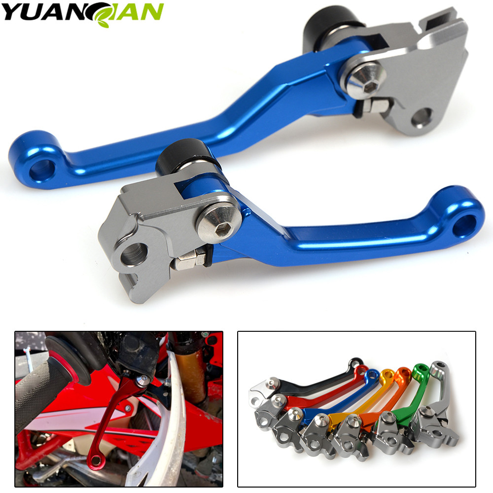 Pivot Dirt Bike Brake Clutch Levers For Honda <font><b>CRF</b></font> 250/<font><b>450R</b></font> CRF250R CRF450R 2007 2008 2009 2010 2011 2012 2013 2014 2015 <font><b>2016</b></font> image