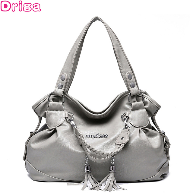 6a567c7fb291 Driga Fashion Designer Women Handbag Female PU Leather Bags Handbags Ladies  Portable Shoulder Bag Office Ladies Hobos Bag Totes