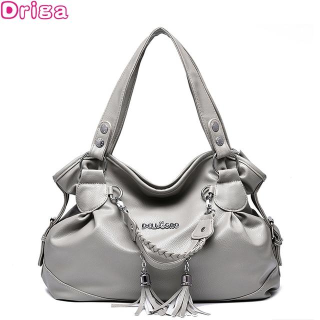 dfc5f9df1dc Driga Fashion Designer Women Handbag Female PU Leather Bags Handbags Ladies  Portable Shoulder Bag Office Ladies Hobos Bag Totes