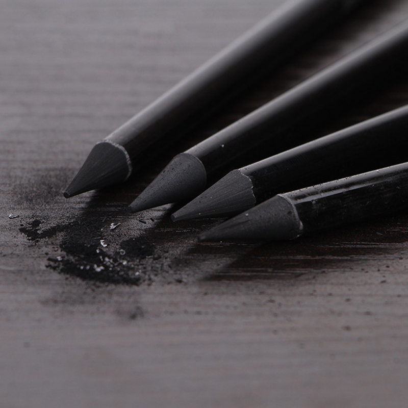 3/6 Pcs Professional Pure Carbon Sketch Pens Hard/Medium/Soft Woodless Charcoal Pencil Set Drawing Tool Painting Supplies