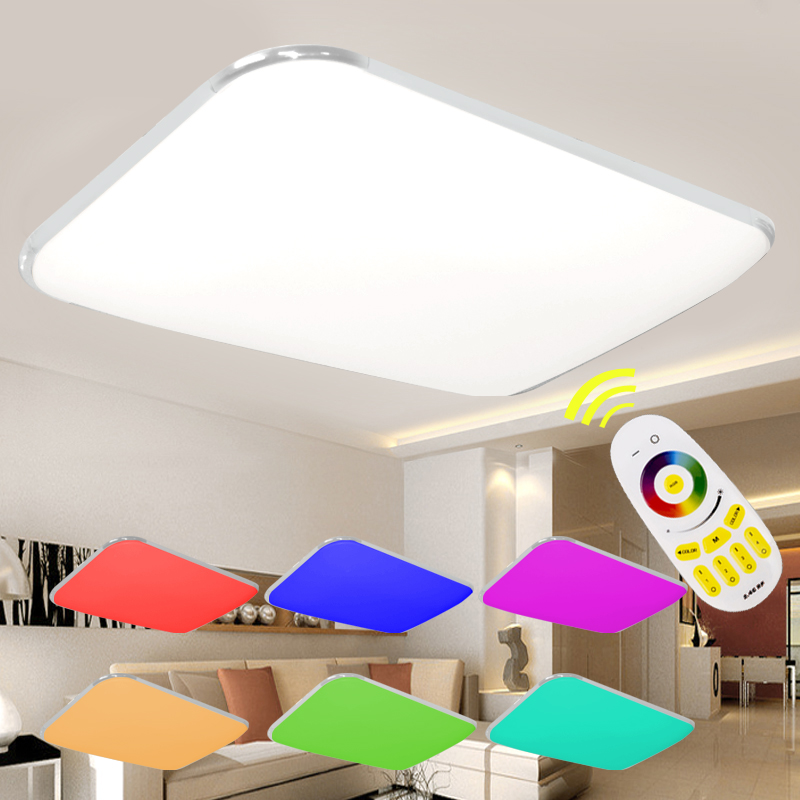 Modern Remote RGB LED Ceiling Light with colourful and dimmer Smart LED ceiling Lamp for living room and bedroom AC100-240V